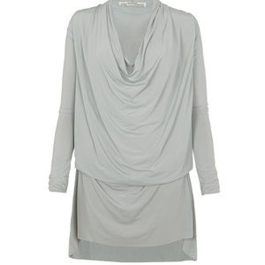 ALLSAINTS Amei Draped Shift Dress (Grey/Mint)